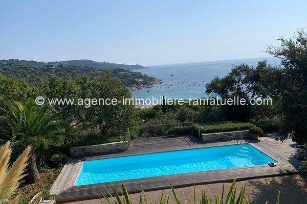Belle villa avec une superbe vue mer – Escalet – Ramatuelle